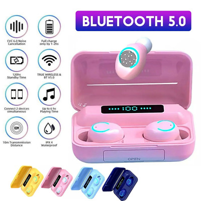 $ CDN22.55 • Buy Bluetooth Earbuds For Iphone Samsung Android Wireless Earphone Waterproof IPX7