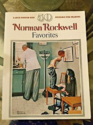 $ CDN13.61 • Buy Norman Rockwell Favorites Paintings 1977 Large Poster Book 50 Prints To Frame