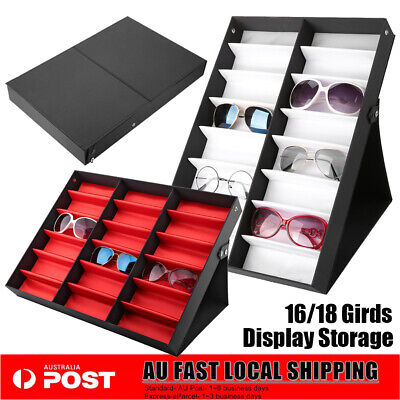AU29.89 • Buy 16/18 Grid Sunglasses Storage Box Organizer Glasses Display Case Stand Holder AU