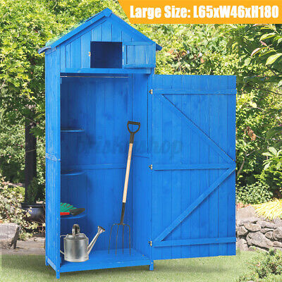 XXL Wooden Garden Shed Outdoor Storage Cabinet House Tool Room Sentry Box Hut UK • 177.06£