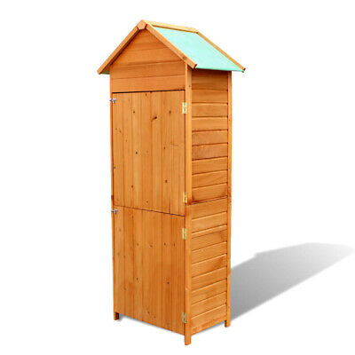 INUNDY Wooden Garden Shed Tool Utility Cabinet Outdoor Cupboard Cabin Storage  • 165.95£