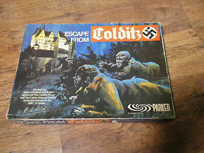 Vintage Escape From Colditz Board Game Parker Games 100% Complete Original 1973 • 44.99£