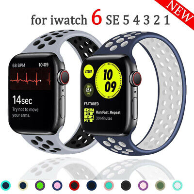 $ CDN5.70 • Buy For Apple Watch Series SE 6 5 4 3 Solo Loop Elastic Rubber Strap Band 40/42/44MM
