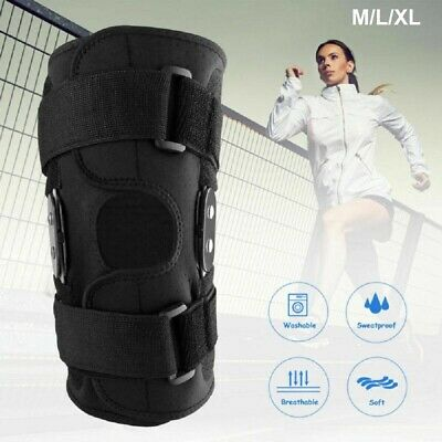 AU18.99 • Buy Hinged Double Metal Knee Brace Support Adjustable Size Arthritis For Sports Gym
