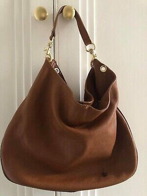 Used Brown Leather Lamarthe Shoulder Bag With Crossbody Strap • 55£