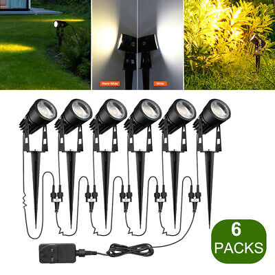 6 Packs Outdoor Garden Spotlights LED Low Voltage Waterproof Landscape Lighting • 7.99£