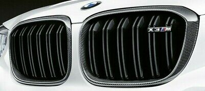 AU1269.64 • Buy BMW OEM 2018+ G01 F97 X3 M Performance Front Carbon Fiber Grille Pair Brand New