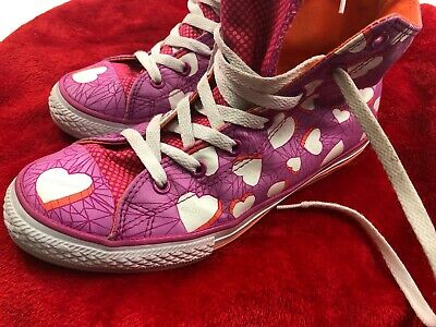 £15.78 • Buy Hi-Top Valentines Converse All-Star Athletic Shoes With Hearts - Pink -v Size 6