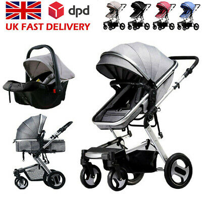 View Details 3 In1 Newborn Baby Pram Pushchair Car Seat Stroller Carrycot Travel System Buggy • 149.99£