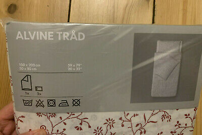 IKEA ALVINE TRAD Single Duvet + Two Matching Pillow Cases Set - New Unopened • 14.99£