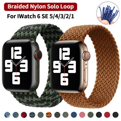 $ CDN8.27 • Buy For Apple Watch Series 6 5 4 3 SE Braided Solo Loop Nylon Band Strap 38/40/44 MM