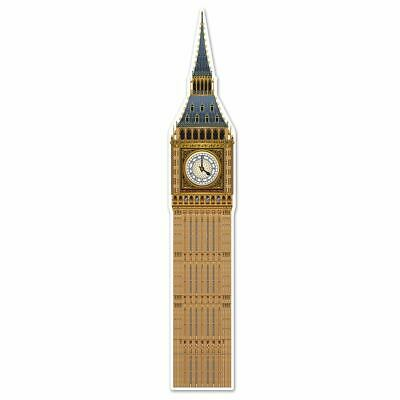 £9.99 • Buy Jointed Big Ben Card Cutout  (5'11 ) British Theme Party Decoration