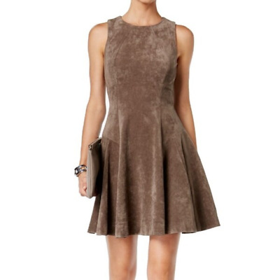 $ CDN50 • Buy Ivanka Trump NWT Tan Taupe Faux Suede Fit & Flare Dress | Women's 10