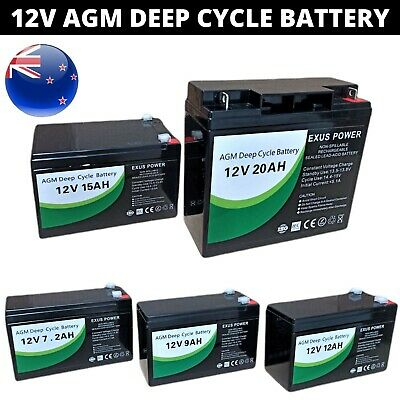 AU44.99 • Buy 12V AGM Deep Cycle Battery SLA Sealed Solar Power Bike 7Ah 9Ah 12Ah 15Ah 20Ah