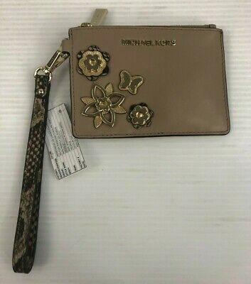 $60 • Buy Michael Kors Butterfly Embellished Leather Small Coin Purse - Truffle