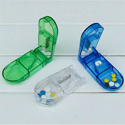 AU9.36 • Buy Pill Cutter Splitter Half Storage Compartment Box Medicine Tablet Holder   .fWJ