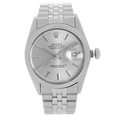 $ CDN6722.84 • Buy Rolex Datejust 36mm Steel 18K White Gold Silver Dial Automatic Mens Watch 16014