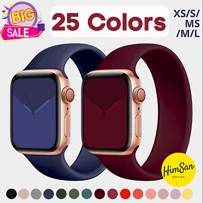 $ CDN5.02 • Buy Silicone Solo Loop Band Strap For Apple Watch Series 6 SE 5 4 3 2 44/40/38/42 Mm