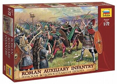Zvezda 1/72nd Ancients Roman Auxiliary Infantry I-II AD Soldiers Set 8052 NEW! • 13.02£