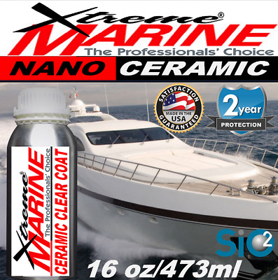 $194.95 • Buy Boat Wax Ceramic Clear Coating Salt Uv Gel Coat Stainless Protection High Gloss