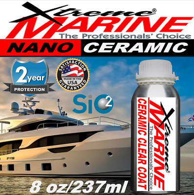 $124.95 • Buy Boat Wax Ceramic Clear Coat Si02 Nano Boat Polish Gel Coat Stainless Protection