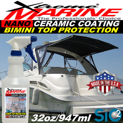 $62.95 • Buy Boat Wax Bimini Top Ceramic Coating Sio2 Protection Spray Seats Covers Fabric