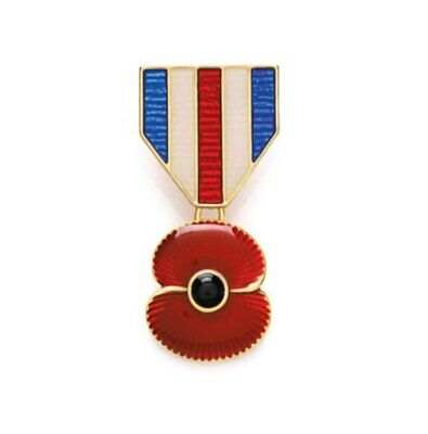 £8.99 • Buy Popppy War Medal Design Pin Badge - Charity: Help For Heroes - Lest We Forget
