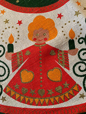 $ CDN22.44 • Buy Vintage Kolf Austria Folk Art Christmas  Angels Tablecloth 32 X 30 Runner Cute!