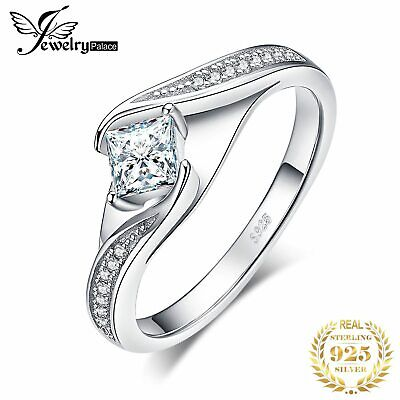 Princess Cut Engagement Ring 925 Sterling Silver Rings For Women Promise Ring We • 11.42£