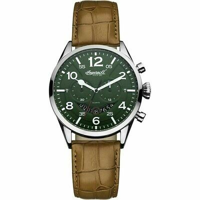 Mens Ingersoll Compton Chronograph Watch INQ029GRSL  100% New And Box • 79.99£