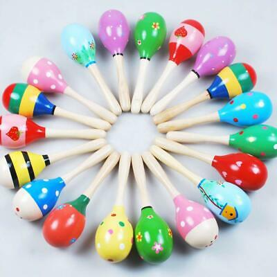 £8.59 • Buy 10pcs Colorful Wooden Baby Maraca Rattle Child Kids Music Hand Shaker Party Toys