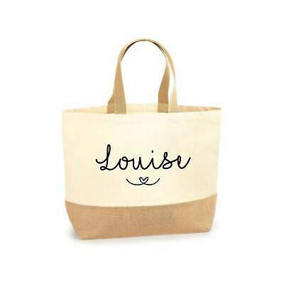 £8.95 • Buy Large Shopper Tote Beach Bag Personalised Teacher Gift Bridesmaid Gift Hen Party