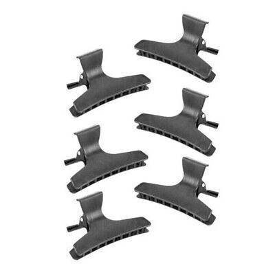 £5.99 • Buy Pack Of 6 WOMANS HAIR CLIPS BLACK  Clamp Grip Hairstyle Bulldog Hairpins