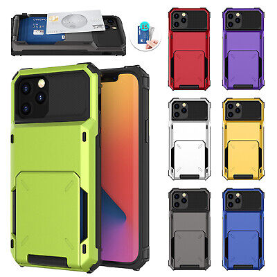 AU11.89 • Buy For IPhone 12 Pro Max 12 Mini 11 8 7 6s SE2 Shockproof Hybrid Card Case Cover
