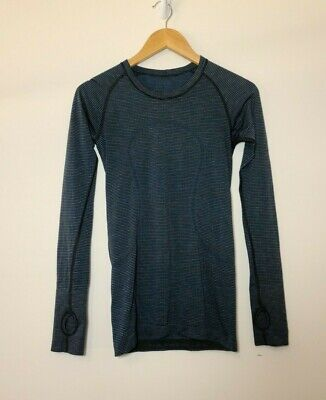 $ CDN70.16 • Buy Lululemon Swiftly Tech Long Sleeve Crew Dark Maritime Black Lavender Blue Size 6