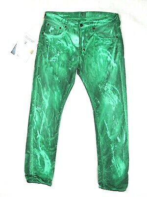 NWT $328 PRPS Goods & Co DEMON Slim Fit Tie Dye Distressed Green Jeans Size 32 • 142.69£