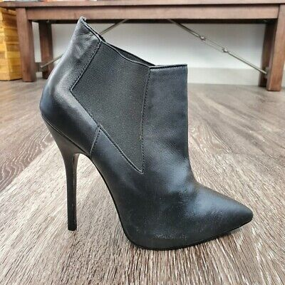 £41.17 • Buy Steve Madden Booties 7.5 Devil Leather Ankle Boots High Heel