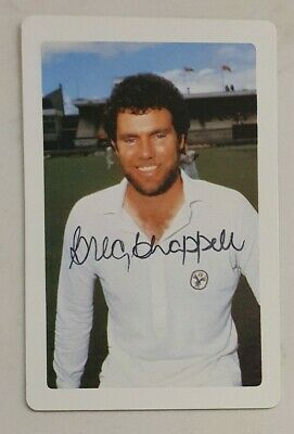 AU22.50 • Buy Greg Chappell Cricket Signed In Person Butter Em Up Card  Buy Genuine