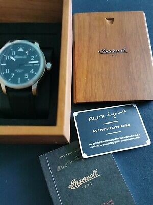 Ingersoll Hatton Automatic Watch, Steel , 47mm, Black, Day And Date, I01303 • 99.99£