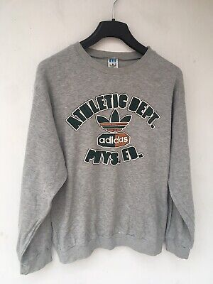 Adidas Athletic Vintage 80s Jumper Sweater Men's Made In West Germany Size M • 25.03£
