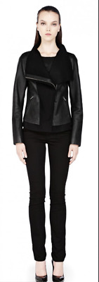 $150 • Buy MACKAGE NWOT Sold Out MSRP $690 Black Armada Leather Motorcycle Jacket Womens Sm