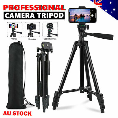 AU18.95 • Buy Professional Camera Tripod Stand Mount Phone Holder For IPhone DSLR Lightweight