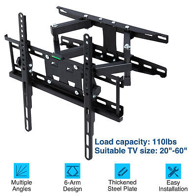 AU18.99 • Buy TV Wall Mount Bracket Full Motion Tilt VESA Swivel 17 32 37 40 42 50 52 55 Inch