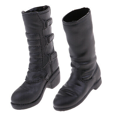 $10.64 • Buy 1/6 Scale Black Combat Boots Flat Heel Shoes For 12'' TTL Enterbay Hot Toys