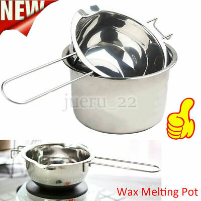 2x Stainless Steel Wax Melting Pot Double Boiler For DIY Candle Soap Making Tool • 6.99£