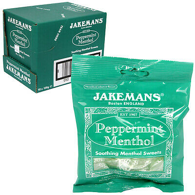 15 Packs JAKEMANS PEPPERMINT Throat & Chest Soothing Menthol Sweets • 10£