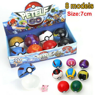 8Pcs/set PokeBall Action Figures Christmas Kids Toys Ball Child Toy Gift • 11.99£