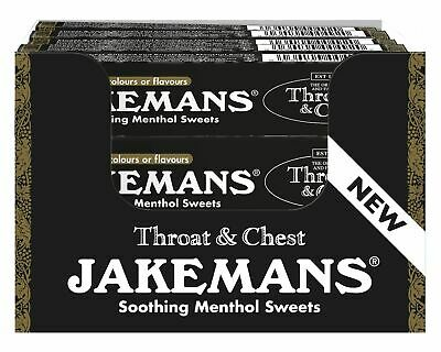 BOX OF 20 Jakemans Soothing Menthol Sweets Stickpack Throat & Chest Original 41g • 10£
