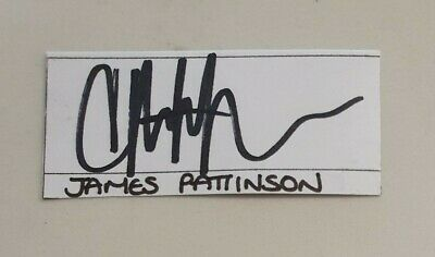 AU7.50 • Buy James Pattinson Cricket Signed In Person  Neat Card England Ashes Australia