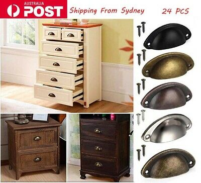 AU15.18 • Buy 24PCS Cup Handles Shell Pull Kitchen Cupboard Cabinet Door Furniture Drawer AU